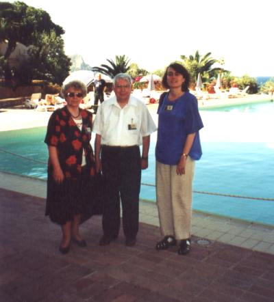From the left: Ludmila I. Chernykh, Nikolaj S. Chernykh and Jana Tich�.<br>