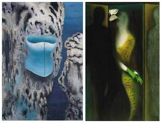 left: Deserted Den, 1937, oil on canvas, State galery of Art, Cheb, Czech Republic<BR>
