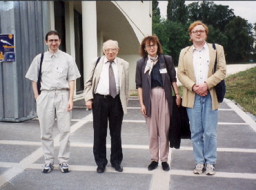 From the left Z. Moravec, V. Van�sek, J. Tich� and M. Tich�. <BR>